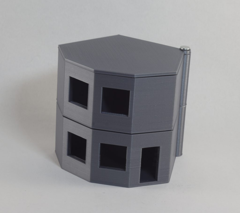 The model of energy efficient construction facility with flat roof